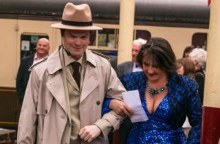 Murder Mystery Woman In Blue Dress
