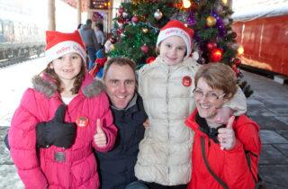 Santa Trains Family Thumbs Up
