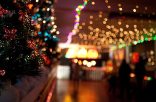 Santa Trains Footbridge Lights