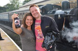 Rail Ale Trail Couple On Platform