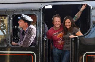 Rail Ale Trail Couple On Train