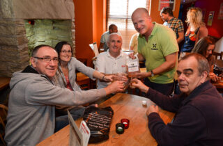 Rail Ale Trail Group Around Table