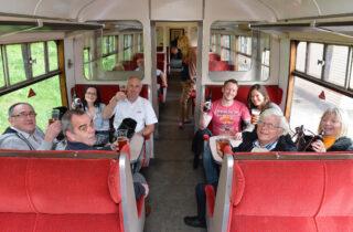 Rail Ale Trail Group On Train