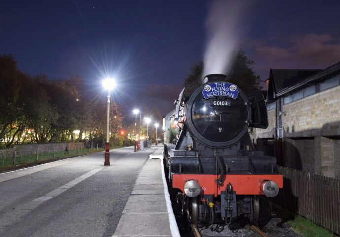 The Flying Scotsman At Night