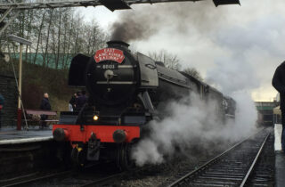 The Flying Scotsman At Station