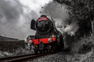 The Flying Scotsman Black And White