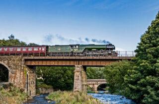 The Flying Scotsman On Bridge